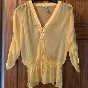 Cache sheer blouse